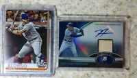 FREDDIE FREEMAN 2011 BOWMAN PLATINUM BLUE REFRACTOR AUTO BAT/99 & Pete Alonso RC