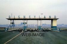 1965 DISNEYLAND PARKING CAR ENTRANCE .25 $ SIGN 4X6 PHOTO ICONIC AMUSEMENT PARK