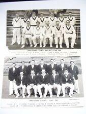 2 Lancashire County Cricket Club 1959 & 1961. Uk United Kingdom Team Photograph