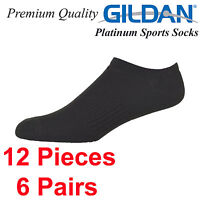 Gildan Platinum Sports Casual Tennis Socks No Show Size 6 7 8 9 10 11 12 Premium