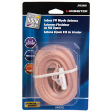 Monster Cable  Just Hook It Up  FM Dipole Antenna  1 pk
