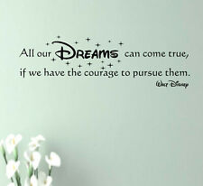 Wandtattoo Walt Disney - All our DREAMS can come true, if we.... 150x45cm Z176a