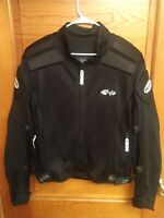 Joe Rocket Men's XL Black Armored Ballistic Motorcycle Touring Jacket Mesh