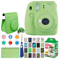 Fujifilm Instax Mini 9 Instant Film Camera (Lime Green) + Instax 20 + Top Bundle