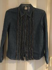 Nice Emma James By Claiborne button Down Denim shirt  Womens sz 10 free shipping