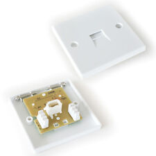 BT Extension Single Telephone Socket - IDC Terminals - 3/3A Wall Outlet Plate
