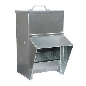 Rural365 Galvanized Chicken Feeder Weatherproof Coop Dispenser 25lbs