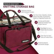 Hillington KB100 Premium Lightweight Knitting Storage Bag - Maroon