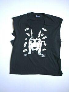 Vintage Acid Bath T Shirt Chopped Double Sided Rare Size Xl