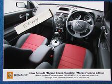 "Original Press Promo Photo - 8""x6"" - Renault - Megane Monaco - 2005 - Interior"
