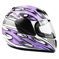 New Youth Purple Motorcycle Helmet  DOT Full Face Small Medium Large XL Kids
