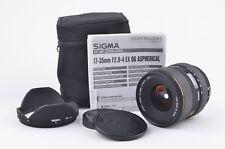 MINT- SIGMA AF 17-35mm F2.8-4 EX DG HSM LENS FOR CANON EF MOUNT, CAPS+HOOD+CASE