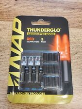 Nap Thunderglo Illuminated Lighted Nocks Red 3-pack Fast Shipping!