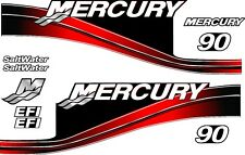MERCURY 2005 - 90 RED MOTOR STICKERS DECAL KIT ENGINE