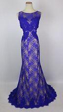NWT Jovani Size 12 Memaid Lace Royal $500 Dress Prom Formal Evening Long Wedding