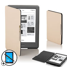 White Smart Shell Case Cover Kobo Glo HD eReader with Free Screen Prot & Stylus