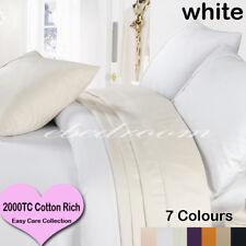 7 Colors 2000TC Cotton Rich Duvet/Doona/Quilt Cover Set King/Queen/Double Size