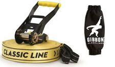 GIBBON SLACKLINE 15m CLASSIC X13 SET 50mm SLACK LINE TIGHT ROPE 13840
