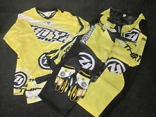 thirty4 Carreras Amarillo Motocross Camiseta,Pantalones y guantes Kit conjunto