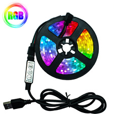 RGB LED Strip Light Flexible Lamp 1M/2M/3M/4M/5M Tape Diode SMD 2835 DC5V Desk S