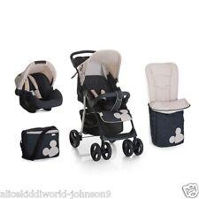 Hauck Disney Mickey Charcoal Shopper SLX Pushchair Travel System shop n drive+AC