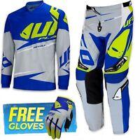 UFO 2017 Revolt Race Kit MX ENDURO Combo Kit Pants Shirt and Free Gloves Grey