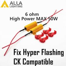 Alla Lighting High Power 50W 6 ohm Load Resistor for Turn Signal Hyper Flashing