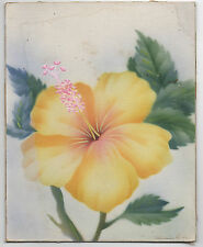 Old Watercolor or Airbrush Painting of Flower by Tip Freeman Art Studio