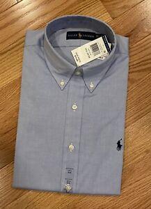 NEW Polo Ralph Lauren Men's Button Down Cotton Dress Shirt 15 1/2 32/33 medium
