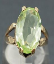 Womens Synthetic Spinel Ring 9ct Yellow Gold Fine Statement Jewelry Size L
