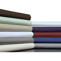 1000tc Egyptian Cotton Home Bedding Collection King Size Solid/Striped Colors