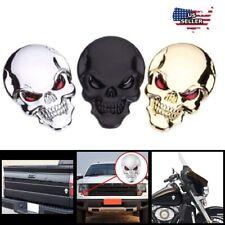 3d Metal Punisher Skull Emblem Sticker Metal Accessory Motorcycle Car Badge