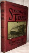 1912 SINKING OF THE TITANIC ICEBERG TRAGEDY DISASTER SEA OCEAN DROWNING