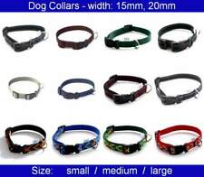 Dog Collar - width: 15mm, 20mm - for small and medium dogs or cats - S, M, L