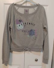 Ladies Long-Sleeved Sweatshirt. Size Large. Brand is So. Gray Color.
