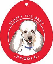Poodle Sticker 4×4″ White