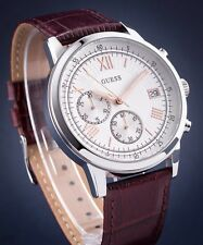 AUTHENTIC GUESS MEN'S SUMMIT CHRONOGRAPH WATCH LEATHER U1000G2 Brand New