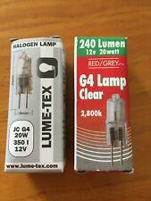 20 x G4 halogen capsule lamps 12V 20W