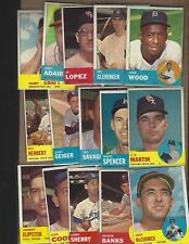 LOT OF ( 15 )  1963  TOPPS  SCARCE &  HIGHS   NUMBERS    NICE