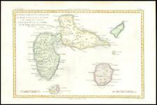 More details for 1780 antique map isles guadeloupe antilles marie galante saintes bonne (bmii/3)