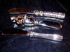 Vintage Lenox Silver Spreader Knife Set (Set of 3)  5 inch Butler & 5.5 inch