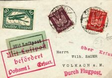 Germany FIRST FLIGHT COVER Kassel Erfurt Volkach 1925{samwells-covers} SO23