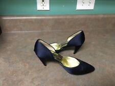 Women's WALTER STEIGER Satin Navy Blue Heels Shoes Size 7B (CON15)