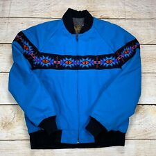 David James Men's Tribal Aztec Quilted Lined Cowboy Jacket Coat Small