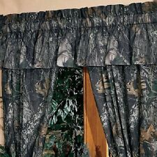 Mossy Oak Camo Valance, Camouflage Hunting Cabin Curtain