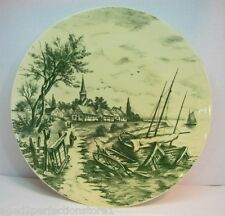 Villeroy & Boch Wallerfangen Oceanside Scene charger plate yellow green ornate