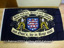 Fahnen Flagge DDR Thüringen Hüte dich vor Sturm Wind - 90 x 150 cm