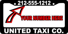 TAXI LIMOUSINE BUSINESS CUSTOM TEXT PERSONALIZED CUSTOMIZED License Plate Frame