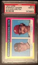 1975 Topps Steve Carlton/ Nolan Ryan #312 Baseball Card