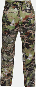 NWT Under Armour Men Storm Brow Tine Mid Season Pant Camo Hunting Tapered Leg